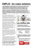 TRACT - Emploi : les vraies solutions