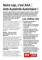 TRACT - Notre cap, c'est AAA: Anti-Austérité-Autoritaire!