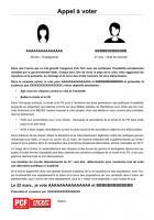Départementales 2015 - Modèle de tract - Appel à voter