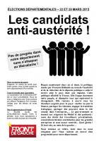 TRACT - Les candidats anti-austérité!