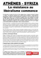 Syriza - La résistance au libéralisme commence