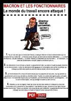 Macron et les fonctionnaires. Le monde du travail encore attaqué!