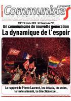 Journal CommunisteS n°507 - Spécial 36e congrès - 13 février 2013