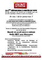 Mardi 10 Avril Assemblée Citoyenne FDG du Val de Seine