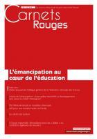 Carnets Rouges n°3, mai 2015 : L'émancipation au coeur de l'éducation