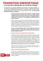 TRACT - TRANSITION ENERGETIQUE La loi poursuit la libéralisation du marché de l'énergie