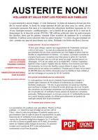 TRACT - Austérité non ! Hollande et Valls font les poches aux familles