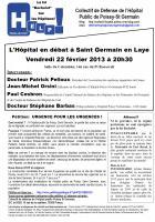 L'hôpital en débat à Saint Germain en Laye