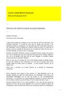 Pierre Laurent - Nous sommes entrés dans une nouvelle histoire, un nouveau récit