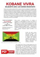 TRACT - KOBANE VIVRA SOLIDARITE AVEC LES KURDES RESISTANTS