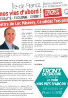 Régionales : Lettre de Luc Miseray, candidat Trappiste