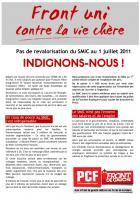 Le PCF lance une grande campagne contre la vie chère  et pour l'augmentation générale des salaires.