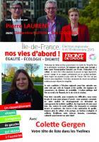 Régionales- Colette Gergen-tête de liste dans les Yvelines