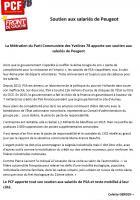 La fédération du Parti Communiste des Yvelines 78 apporte son soutien aux salariés de Peugeot