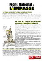 TRACT - Front national - L'impasse