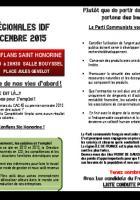 Régionales 2015 - Réunion publique à Conflans - Jeudi 29/10/2015 - 20h30
