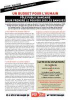 Un budget pour l'humain - Un pôle public bancaire pour prendre le pouvoir sur les banques