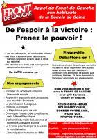 Mardi 15 novembre, 20h30 assemblée citoyenne Front de Gauche Sartrouville