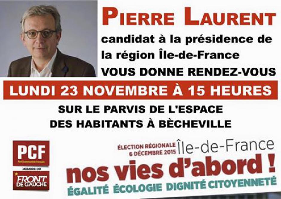 Pierre Laurent dans les Yvelines - Les Mureaux - 23-11-2015