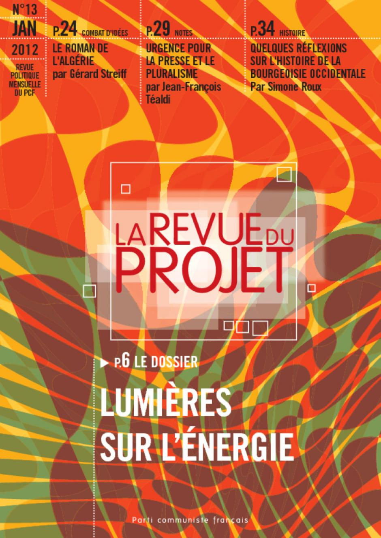 La revue du projet n° 13 : Lumières sur l'énergie