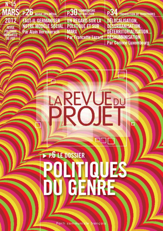 La revue du projet n° 15 : politiques du genre