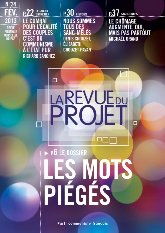 La revue du projet n° 24 : LES MOTS PIÉGÉS
