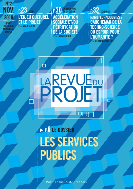 La revue du projet N°2 les services publics