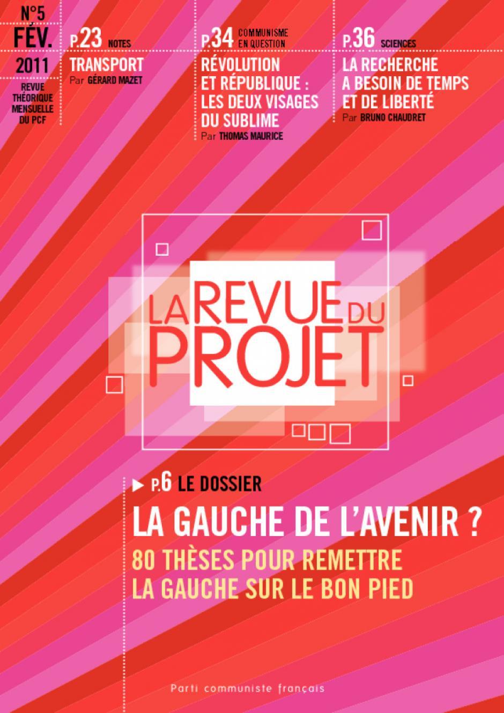 La revue du projet N°5 La gauche de l'avenir ?