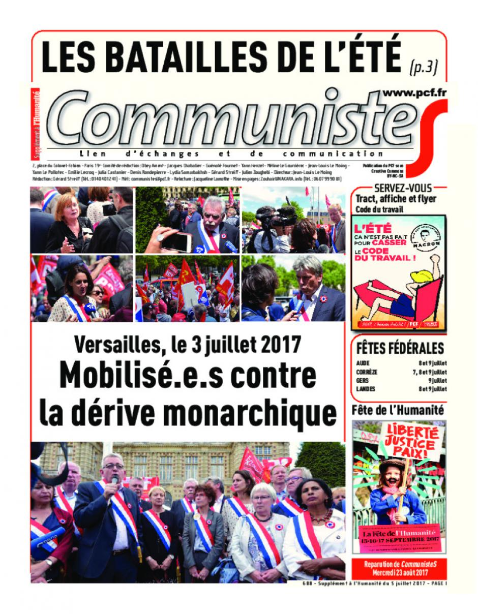 Journal CommunisteS n°688 5 juillet 2017