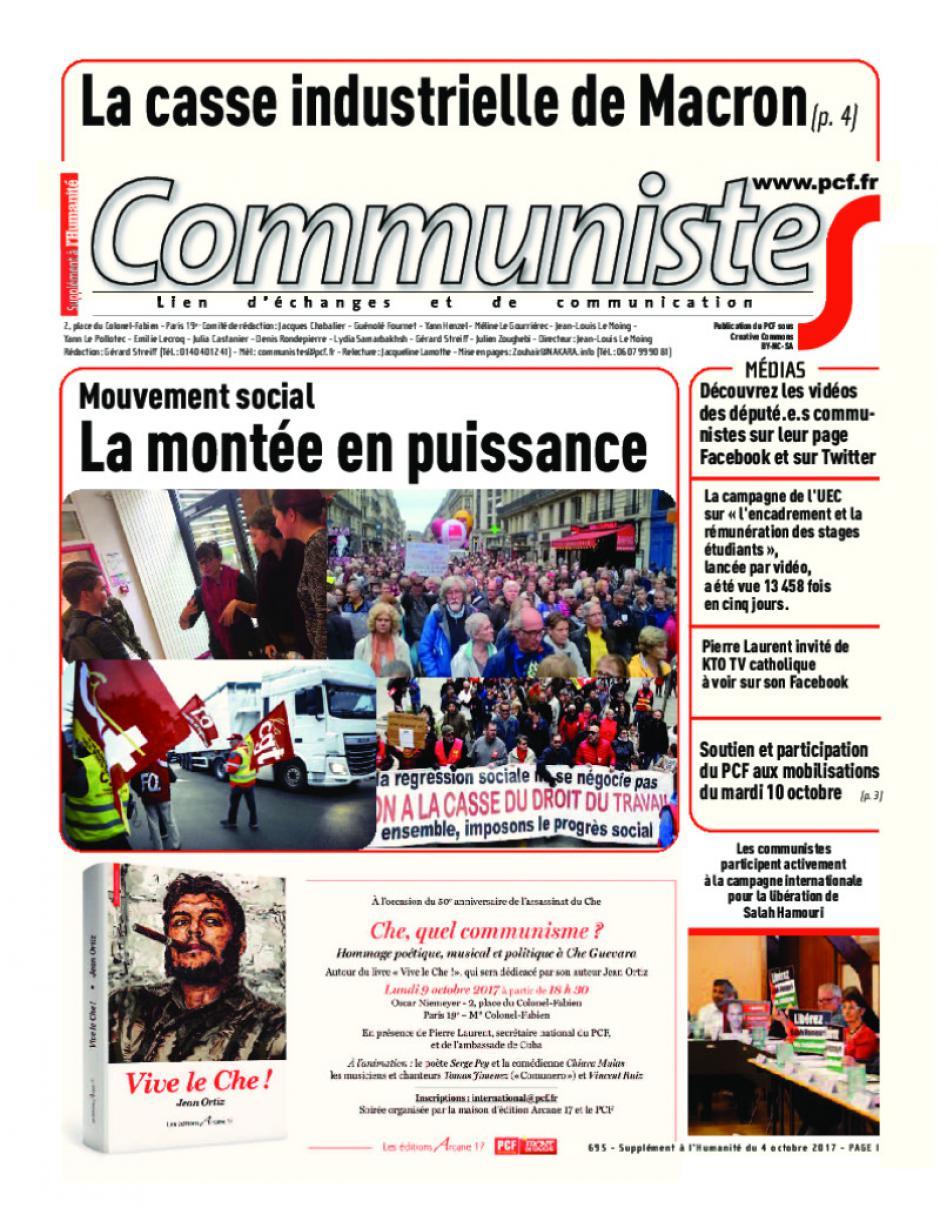 Journal communisteS n°695 4 octobre 2017