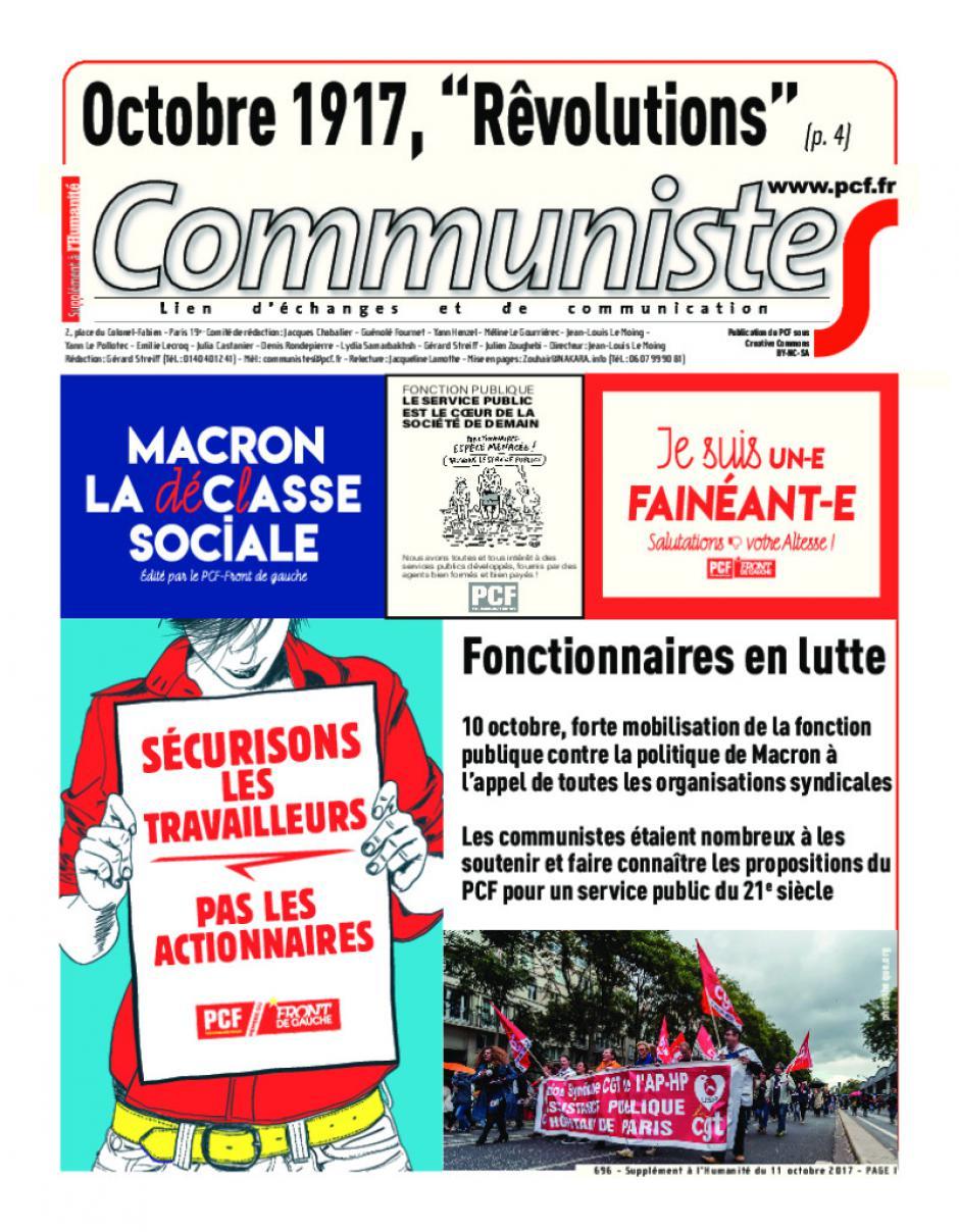 Journal communisteS n°696 11 octobre 2017