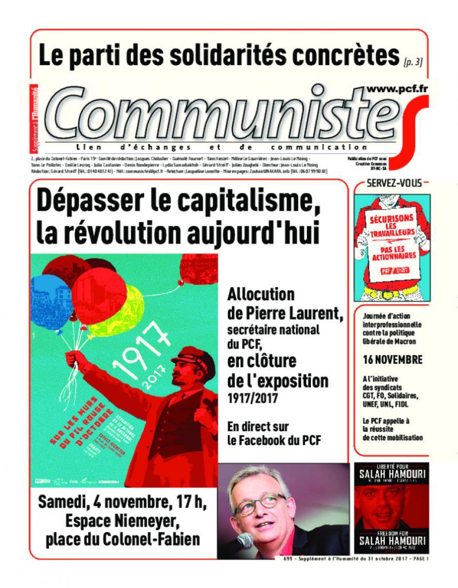 journal CommunisteS n°699 31 octobre 2017