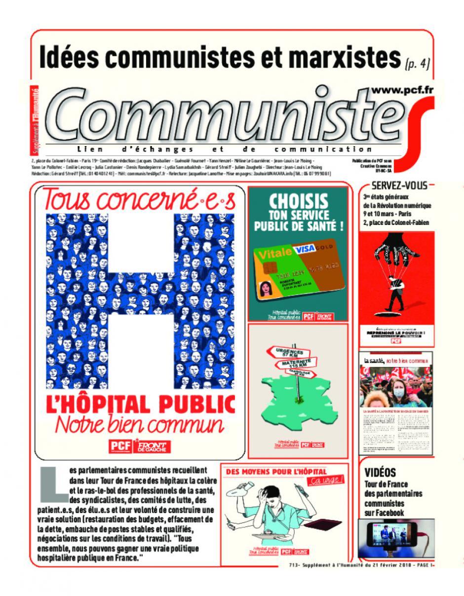 Journal CommunisteS n°713 février 2018