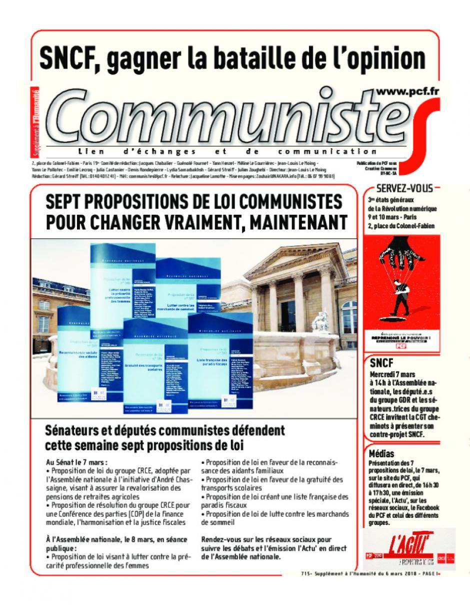 Journal CommunisteS n°715 mars 2018