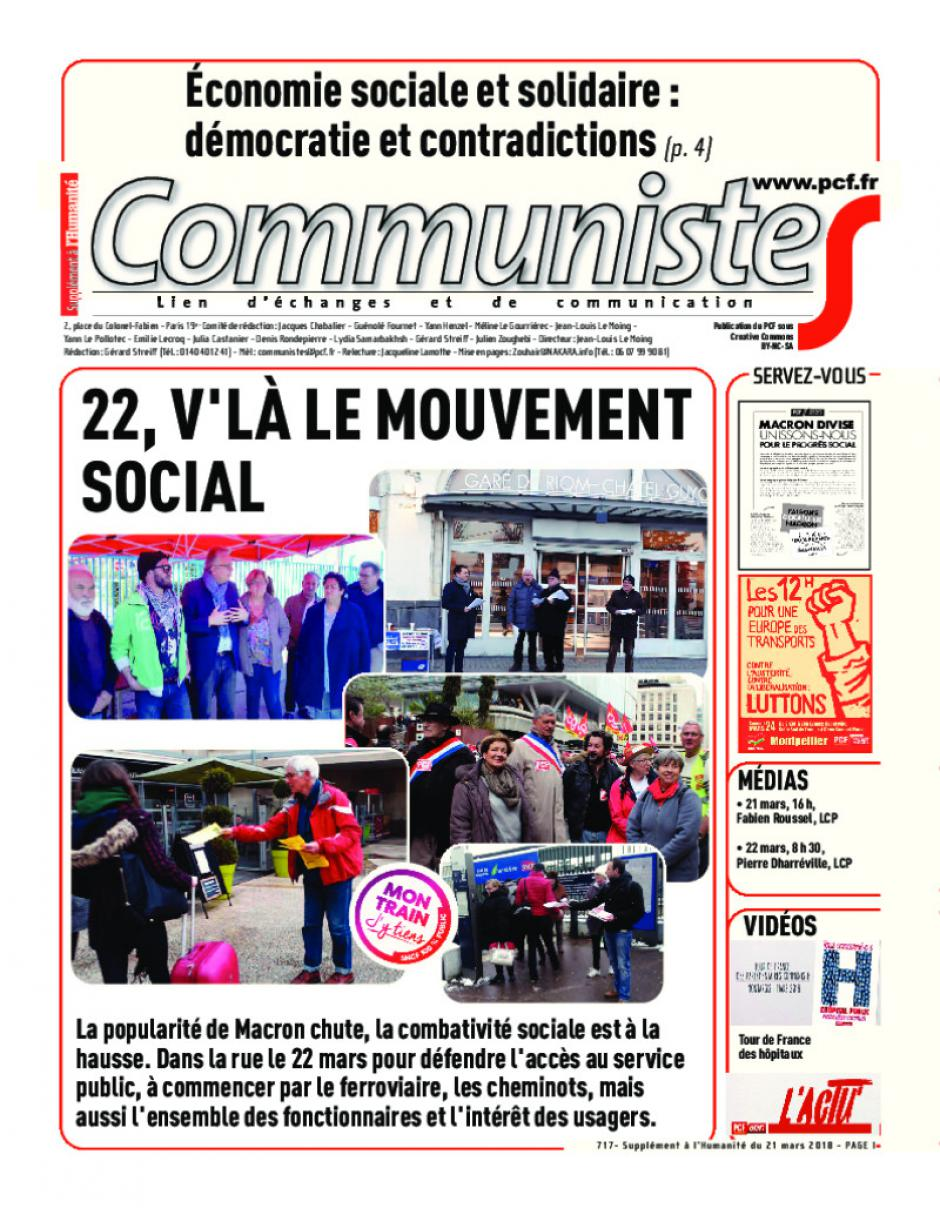 Journal CommunisteS n°717
