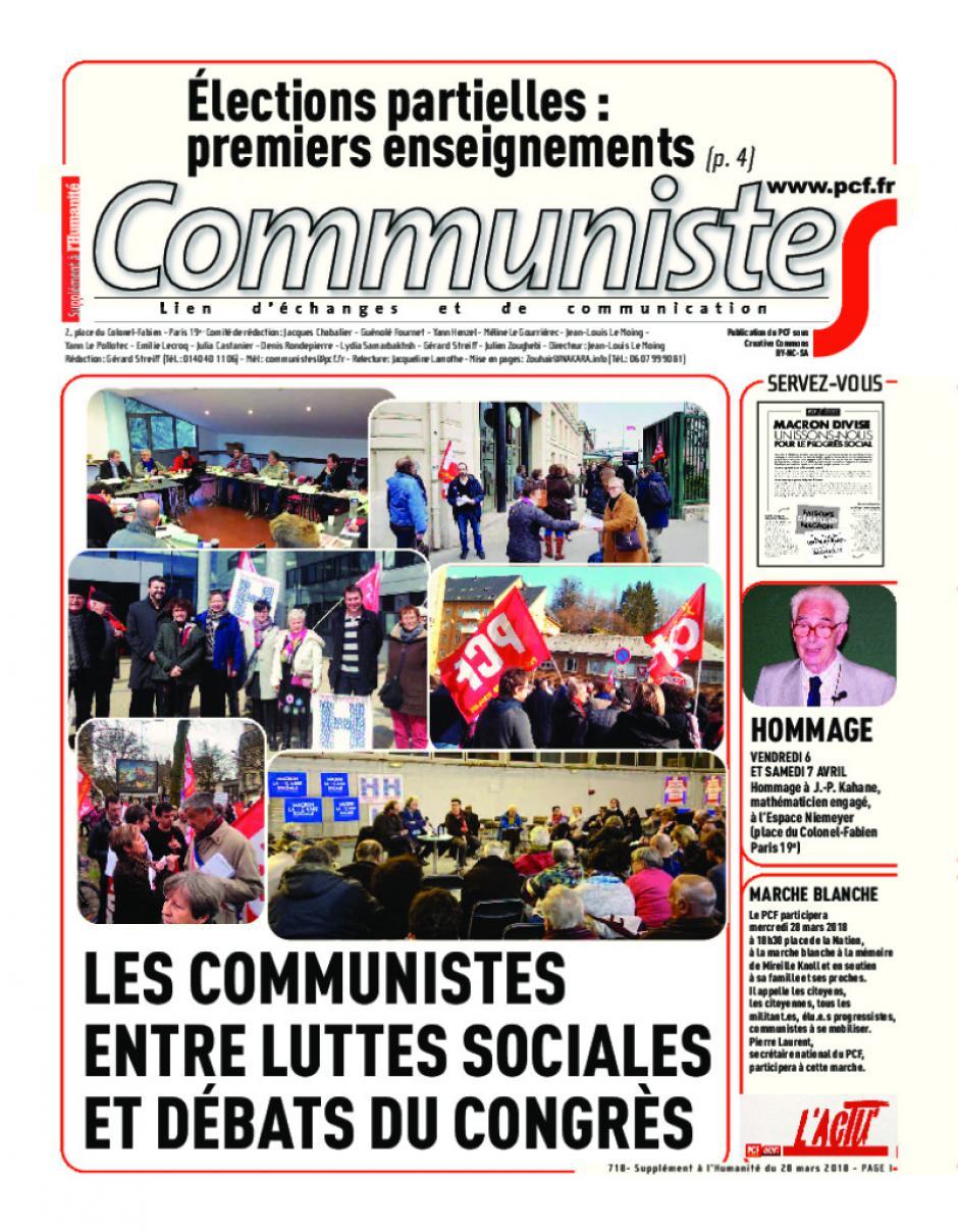 Journal CommunisteS n°718