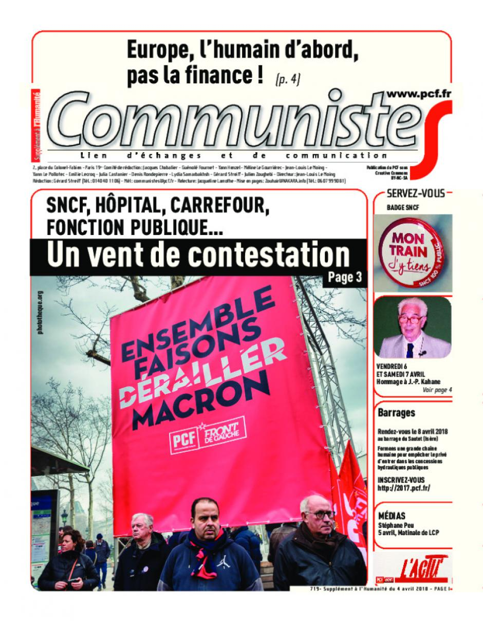 Journal CommunisteS n°719
