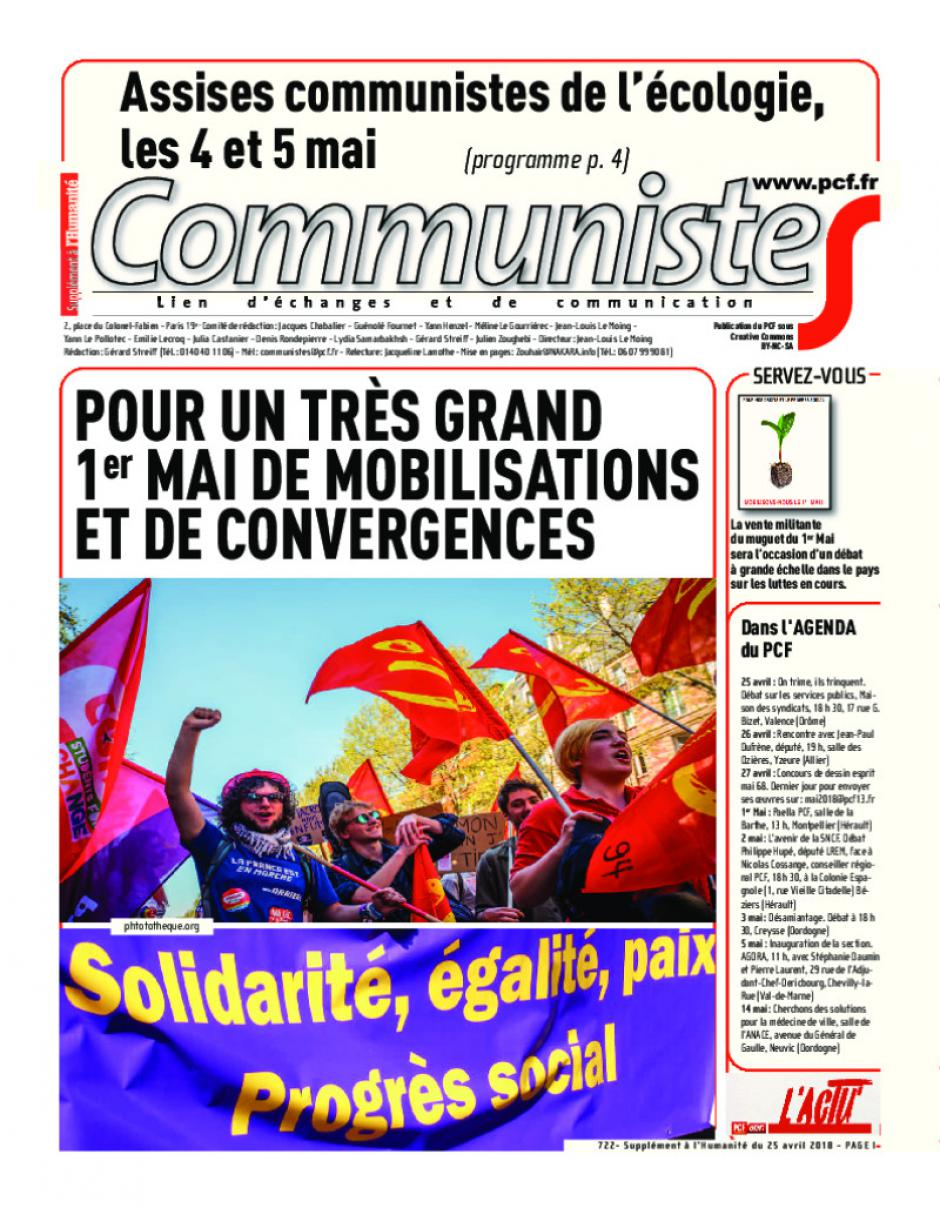 Journal CommunisteS n°722