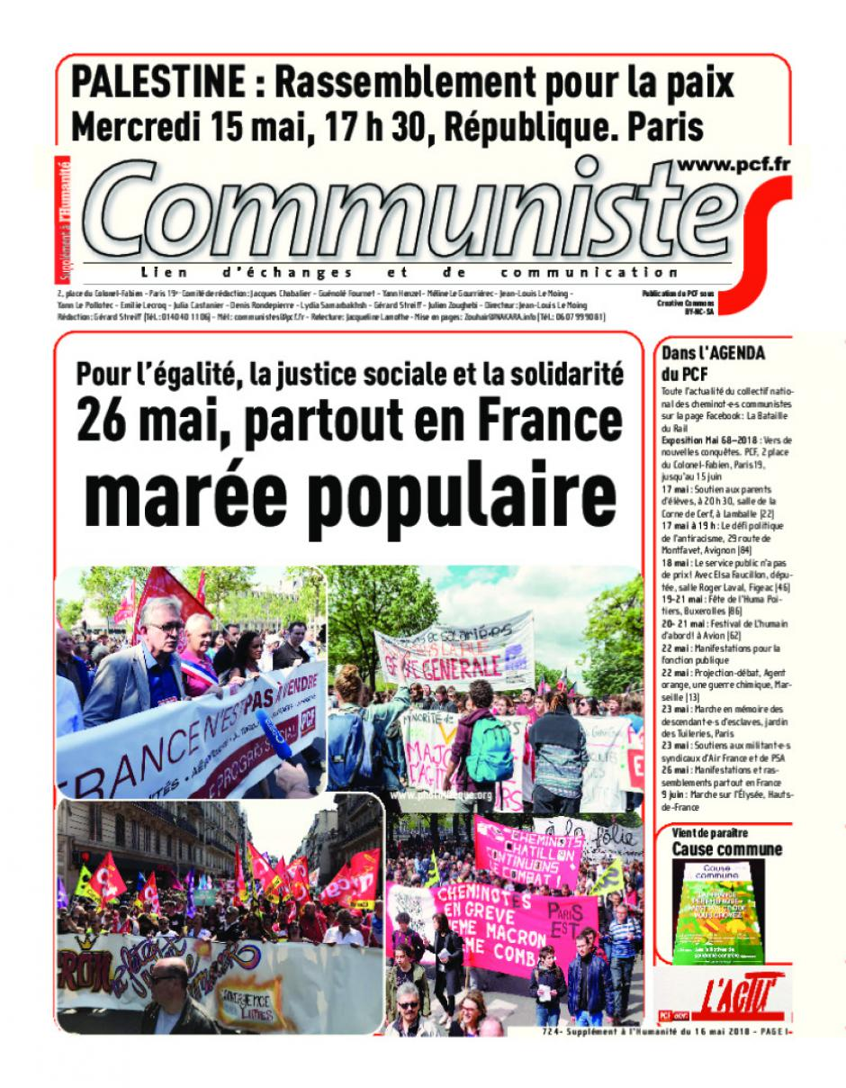 Journal CommunisteS n°724