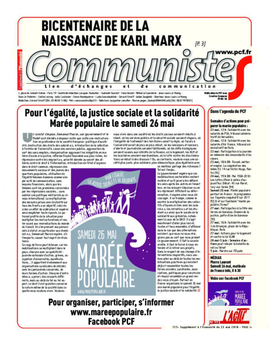Journal CommunisteS n°725