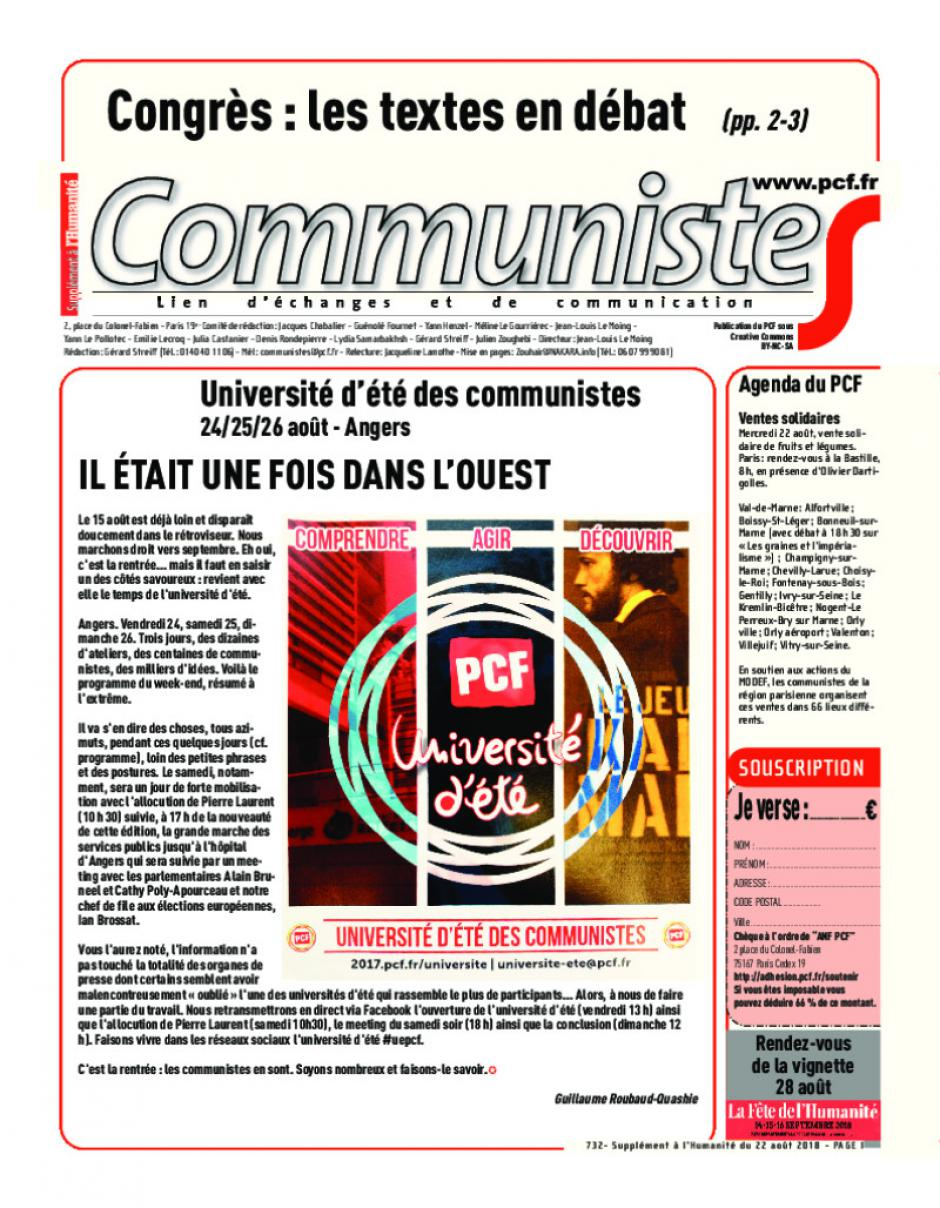 Journal CommunisteS n°732