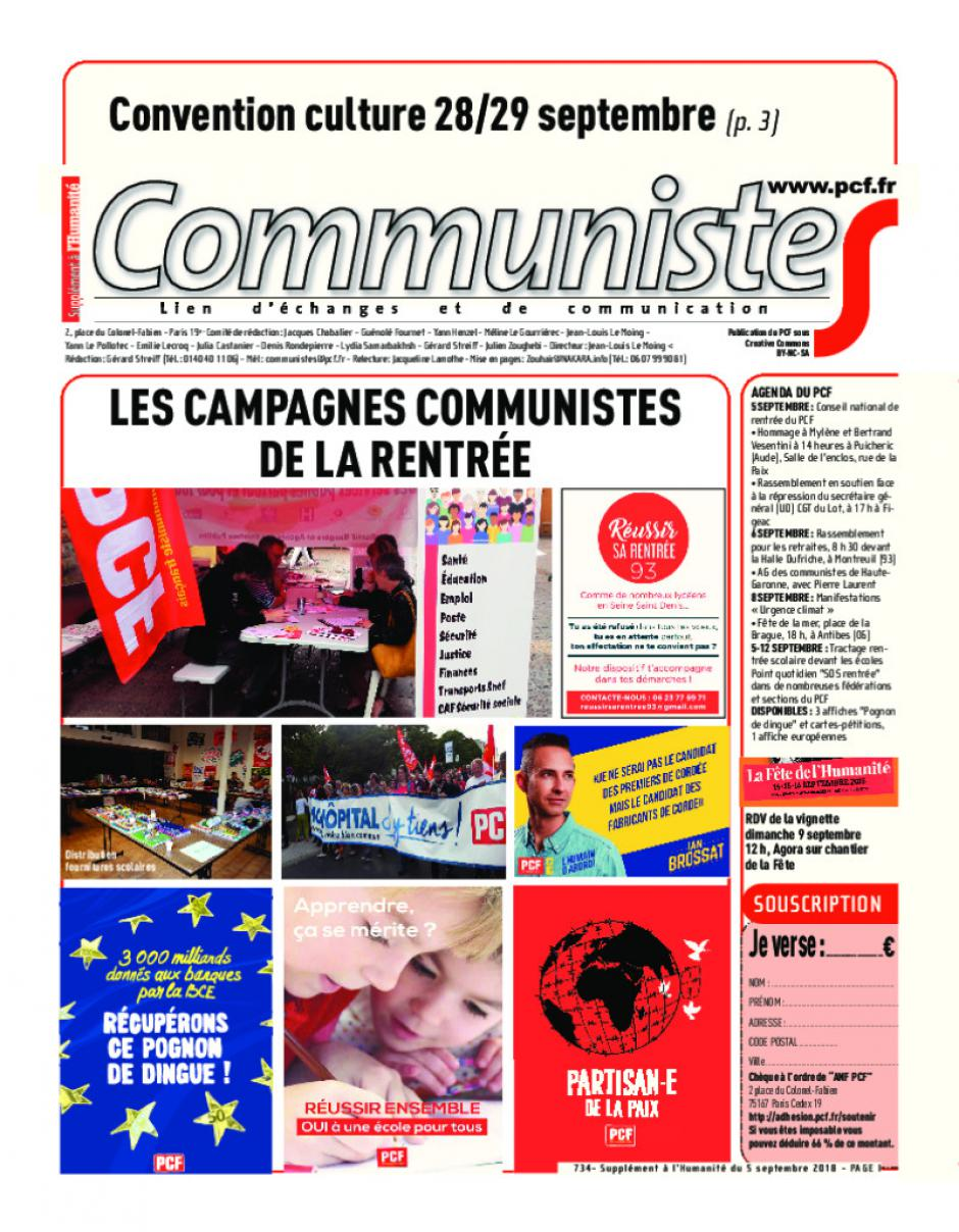 Journal CommunisteS n°734
