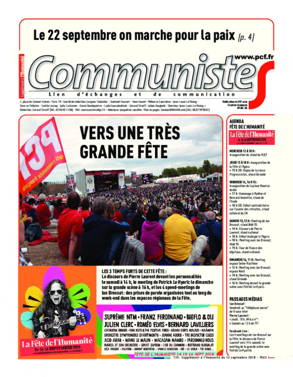Journal CommunisteS n°735
