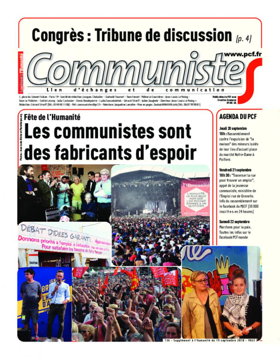 Journal CommunisteS n°736