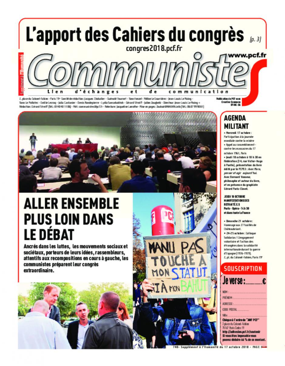Journal CommunisteS n°740