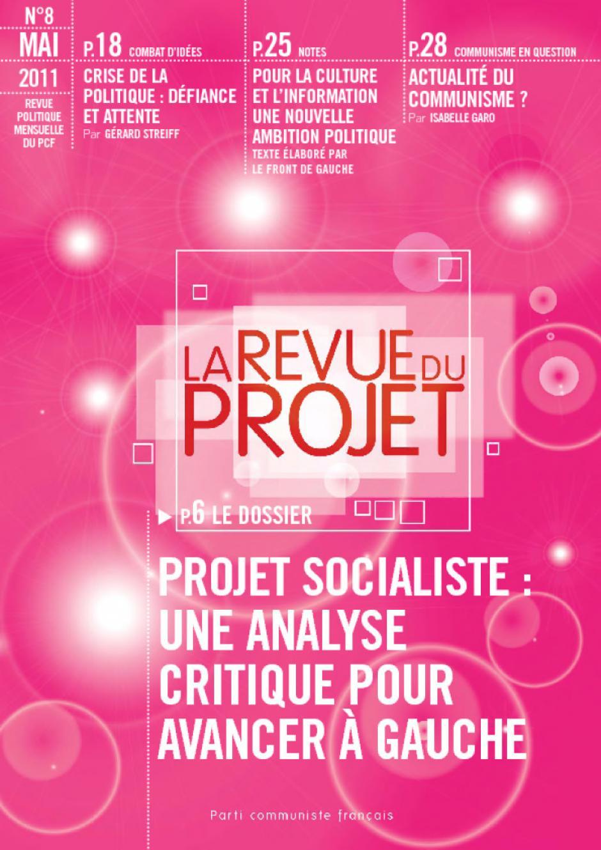 La revue du projet n°8  : projet socialiste, une analyse critique pour avancer à gauche