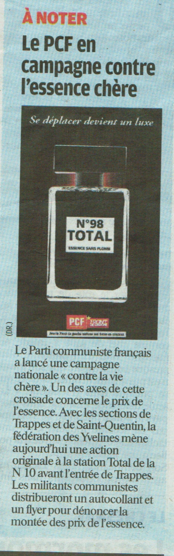 Article du Parisien du vendredi 26/08/2011