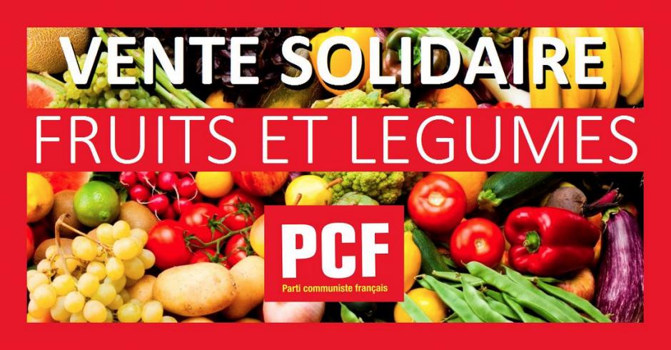 Vente de solidarité de légumes au juste prix organisée par le PCF78 samedi 20 octobre 2018