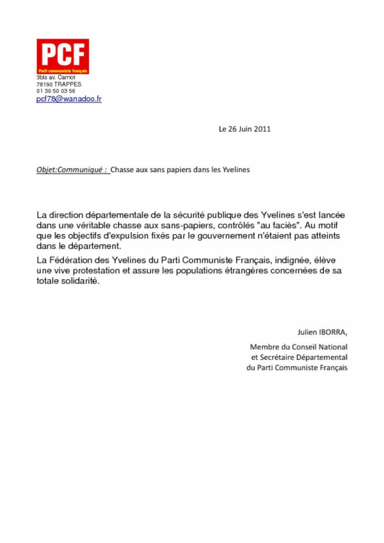 Chasse aux sans papiers dans les Yvelines