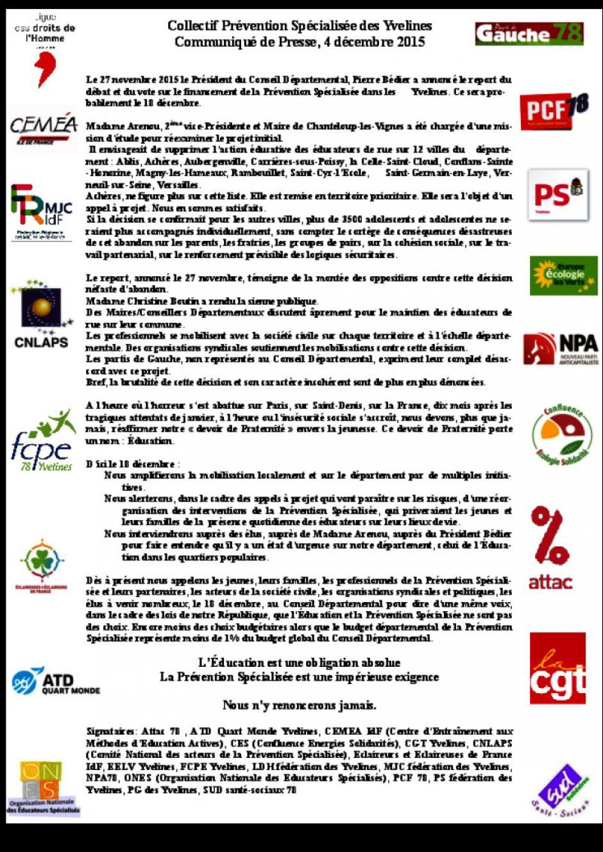 Soutien aux éducateurs spécialisés des Yvelines